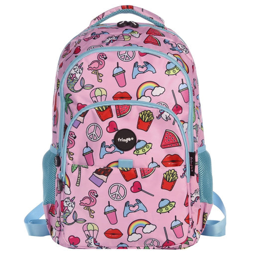 Fringoo Multi Compartment Backpack Doodle Girl