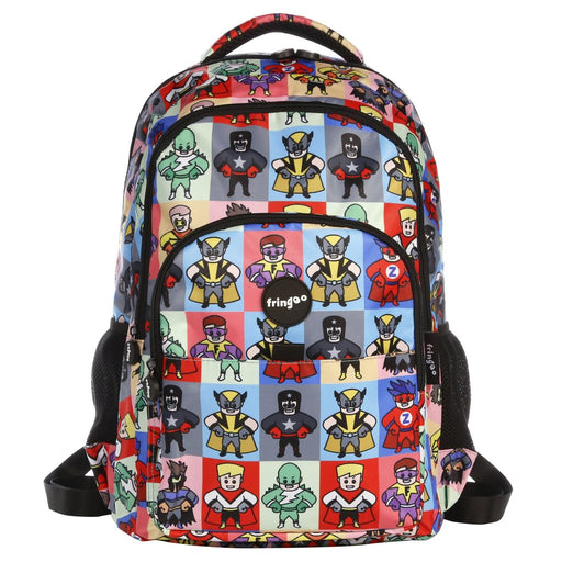 Fringoo Multi Compartment Backpack Superheros