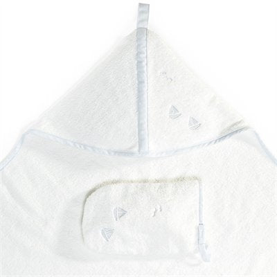 Stokke® Hooded Towel Blue Sea