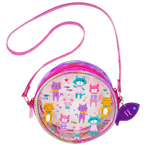 Stephen Joseph Iridescent Crossbody Purse Cat