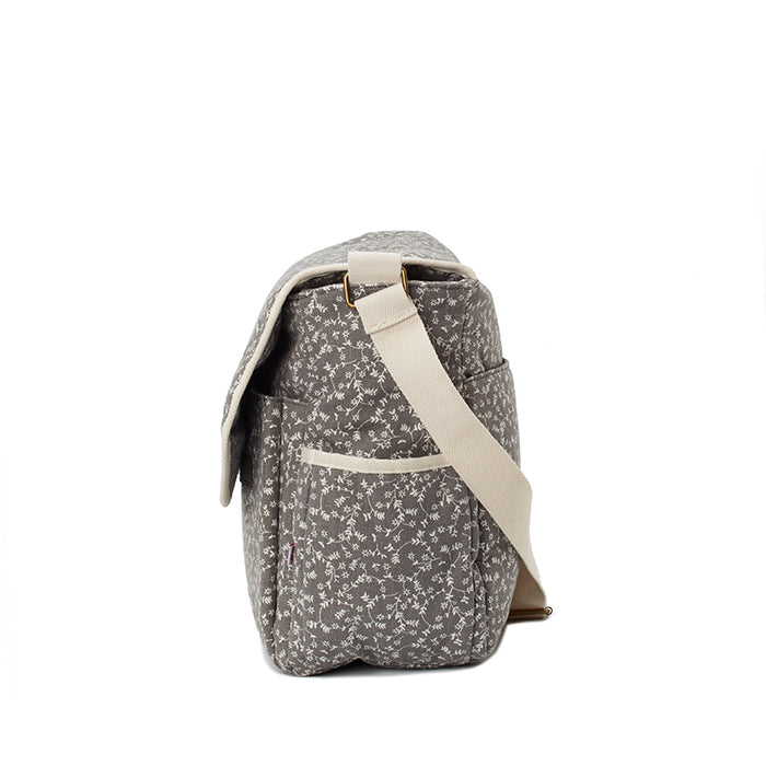 My Bag's Τσάντα Αλλαξιέρα Liberty Flower Dark Grey