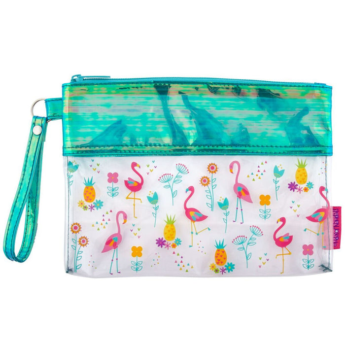Stephen Joseph Iridescent Pouches Flamingo