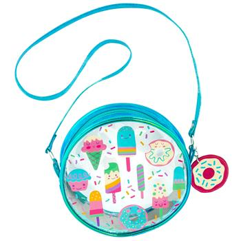 Stephen Joseph Iridescent Crossbody Purse Sweets