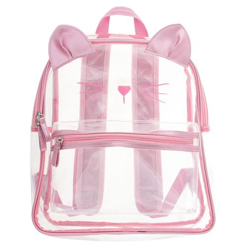 Stephen Joseph Clear Backpack Cat