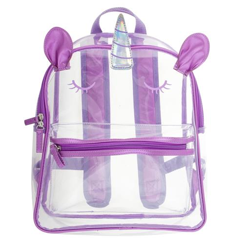 Stephen Joseph Clear Backpack Unicorn