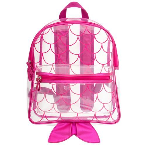 Stephen Joseph Clear Backpack Mermaid
