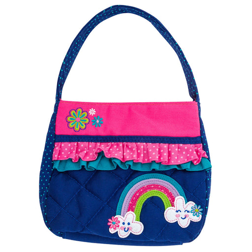 Stephen Joseph Quilted Purse Rainbow