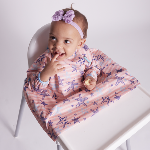 BIBaDO Coverall Highchair Bib Blossom Pink