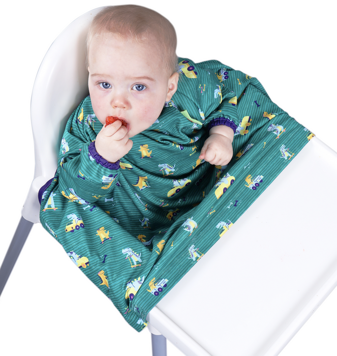 BIBaDO Coverall Highchair Bib Dino