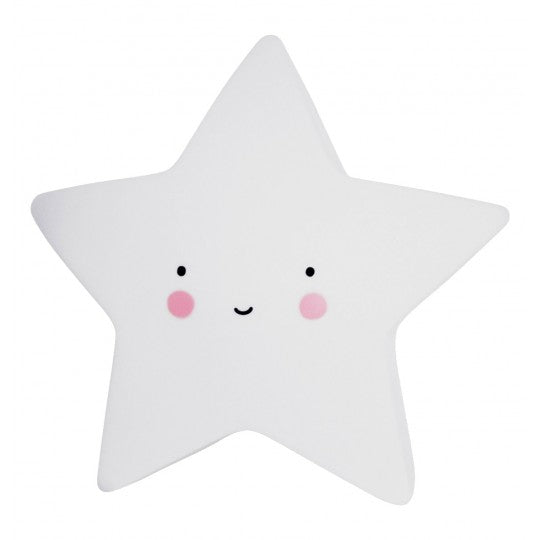 Mini Night Light Star White