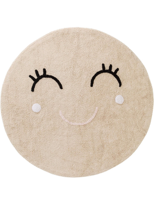 Inka Smiling Face Kids Rug Beige
