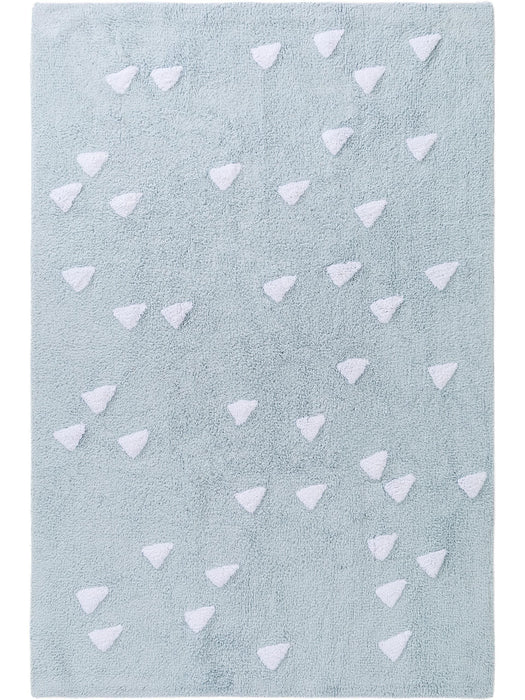 Inka Triangles Kids Rug Light Blue