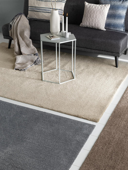 Lahty Washable Shaggy Modern Rug Grey