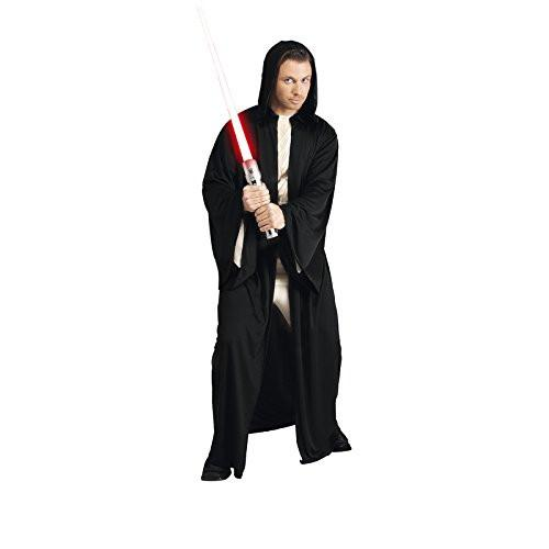 Lucas - st-16222 - Jedi Robe Adult Costume with Hood - Black - One size