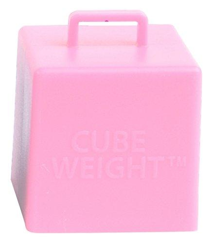 Cube Weight Balloon Weight, 65 gram, Baby Pink, 10 Piece
