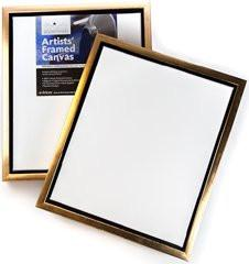 Frisk 18 x 14-inch Artists Frame and Canvas Set, White