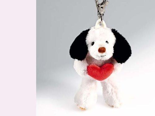 Rudolph Schaffer Dog Wumpi with Heart Keyring Soft Toy