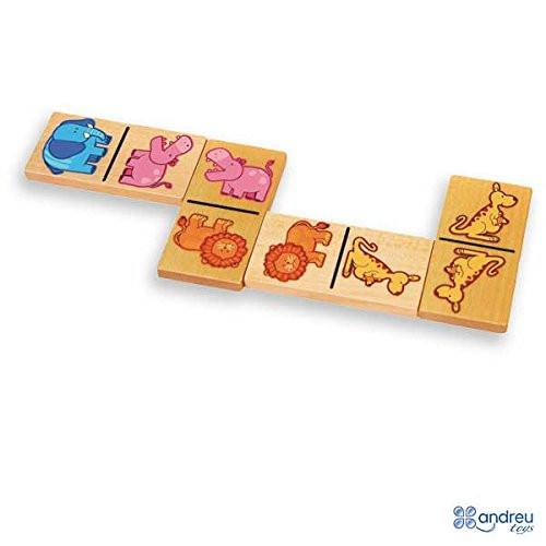 Andreu Toys 30 x 10 x 4.5 cm Animals Domino (Multi-Colour)
