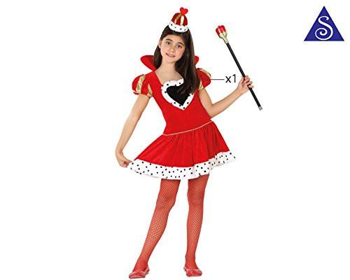 atosa - 26957 - Children's Costume - Queen Of Hearts - Girl T-3