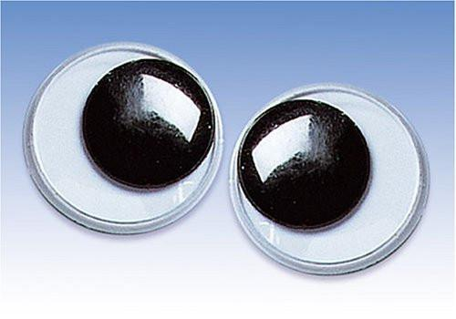 KnorrPrandell 2480204 Wiggly Eyes, 20 MM in Diameter Black / White