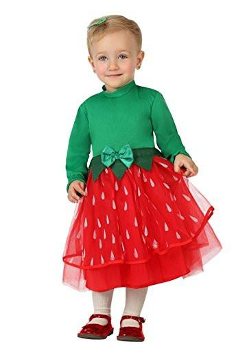 atosa - 26805 Costume for Baby - Strawberry - Size 6