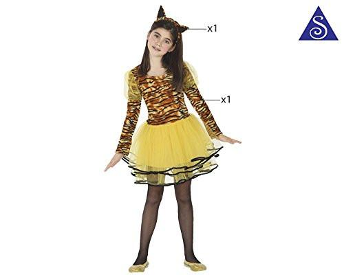 atosa 26492 Tigerin, Girl, Size 128, Brown/Yellow