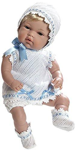 Arias 33 cm Elegance Natal Baby Girl Doll in a Bag (Blue)