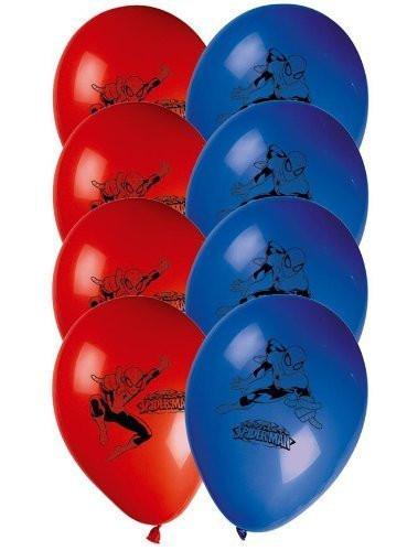 Procos 81536 Printed Balloons - Ultimate Spider Man, 8 Pieces, Red/Blue