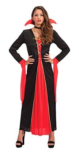 Carnival Toys 82055 Vampire with Collar Fancy Dress Costume - Size S - Black/Red M