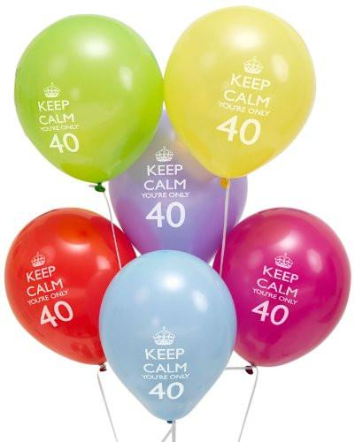 Neviti Keep Calm 40th Balloons