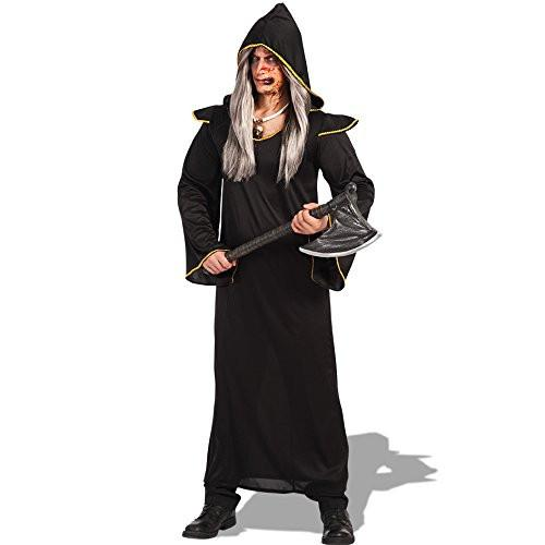 Carnival Toys 82117 Demon Tunic And Hood Fancy Dress Costume - Medium/Large, Black