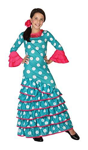 atosa 26539 - Flamenco Blue, Girl, Size 116, Light Blue/White