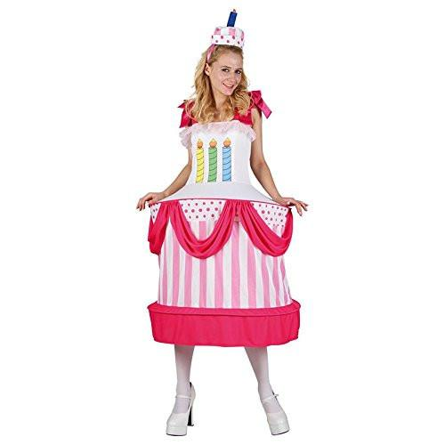 P 'tit clown 86899 Birthday Cake Costume Adult - One Size - Multicoloured