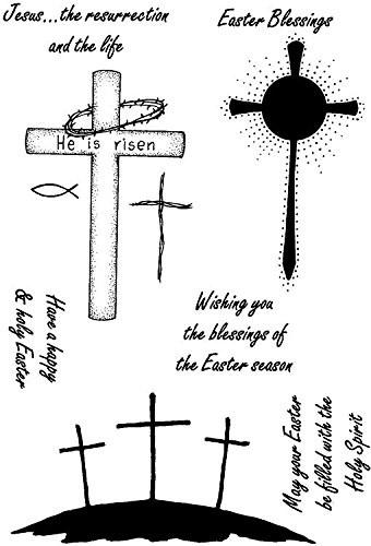 Crafty Impressions A6 LM He is Risen Stamp