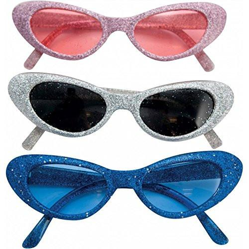 P 'tit clown 24581 Plastic Glitter Glasses (Random Color)