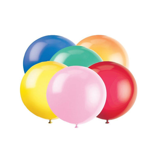 "Unique Party 36"" Giant Latex Assorted Colour Balloons, Pack of 6"