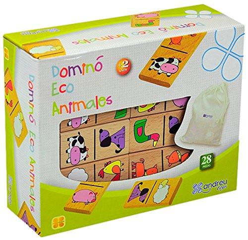 Andreu Toys 21 x 16.8 x 7.2 cm Eco Animals Domino (Multi-Colour)