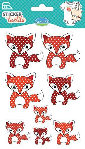 Aladine Fox Textile Stickers (8-Piece)