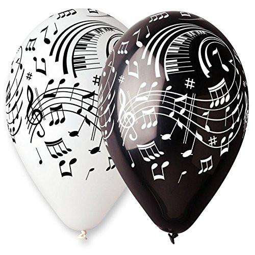 aptafêtes - ba19921 Diameter 30 cm/cirérence Music Notes Balloons - Pack of 100 - 105 cm