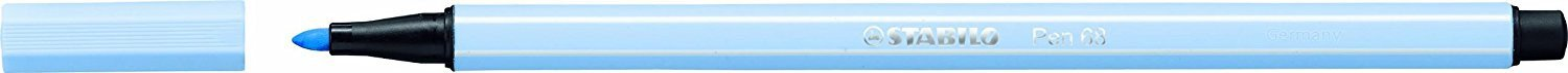 STABILO Pen 68 ice blue pack of 10 - Premium felt-tip pen