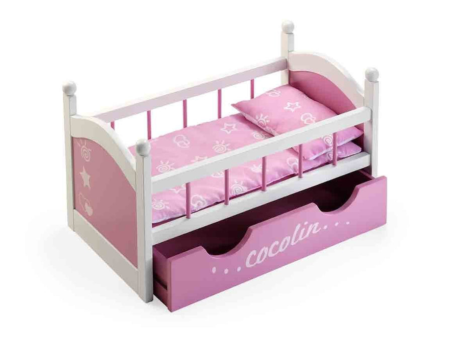 Arias 52.5 x 29 x 32 cm Cocolin Doll Bed with Drawer