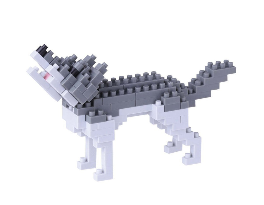 Nano block 14939 - Grey Wolf 3D Puzzle - Mini Collection (130 Pieces) (Difficulty Level 2 (Medium)