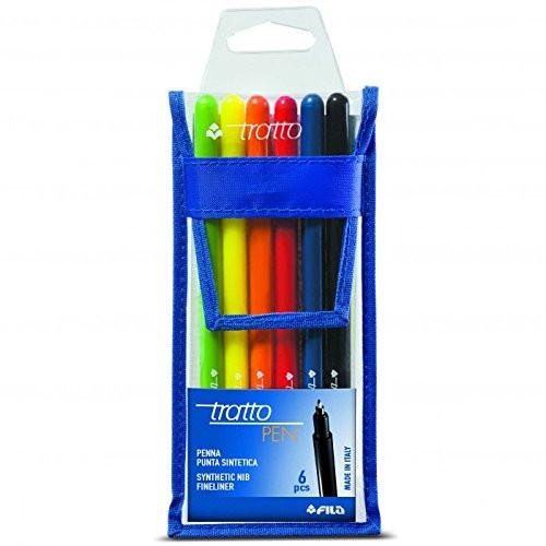 TRATTO 807800 - Pen Envelope Pack of 6