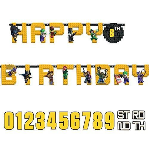 LEGO Batman Happy Birthday Add-an-Age Letter Banner, 3.2 m x 25 cm