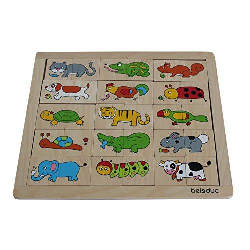 Beleduc 11006 - Match and Mix Animals Puzzle