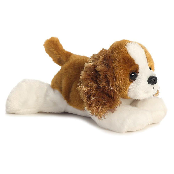Aurora World Charles the Dog Mini Flopsies Spaniel Plush Toy (Brown/White)