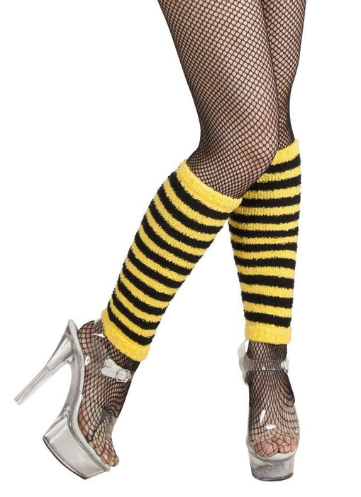 Boland 01718 - Polka Dots For Leg Warmers Fancy Dress Bee, Yellow/Black, One Size