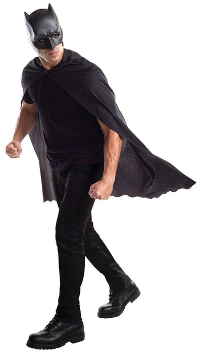 Rubie's Official Adult's Batman Mask and Cape - One Size, Black
