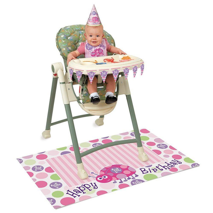Pink Ladybird 1st Birthday High Chair Decorating Kit