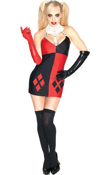 Rubie's Official Ladies Super Villain Harley Quinn Dress Adult Costume - Large